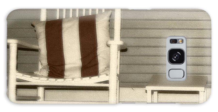 Rocking Chair Galaxy Case featuring the photograph Porch Rocker by Debbi Granruth