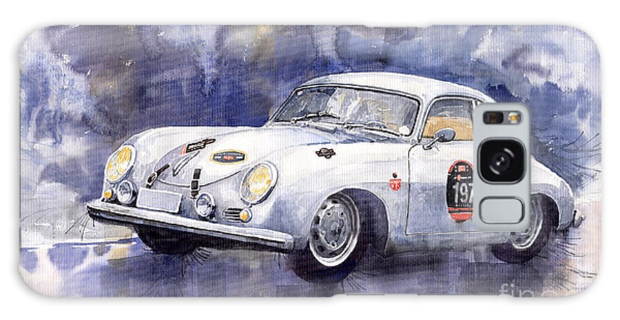 Watercolour Galaxy S8 Case featuring the painting Porsche 356 Coupe by Yuriy Shevchuk