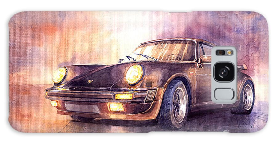 Auto Galaxy Case featuring the painting Porsche 911 Turbo 1979 by Yuriy Shevchuk