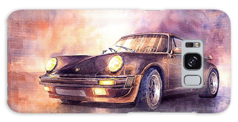 Shevchukart Galaxy Case featuring the painting Porsche 911 Turbo 1979 by Yuriy Shevchuk