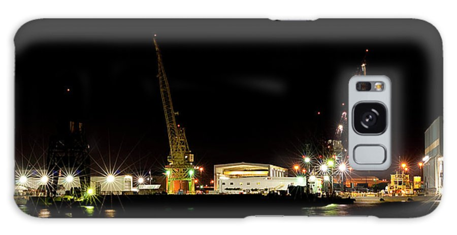 Port Galaxy S8 Case featuring the photograph Port Of Tampa At Night by Carolyn Marshall
