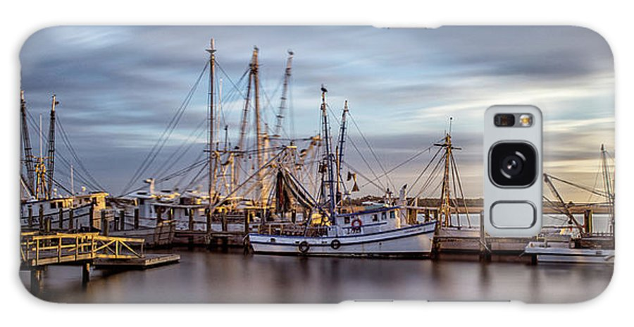 Seascape Galaxy S8 Case featuring the photograph Port Royal Shrimp Boats by Steven Greenbaum