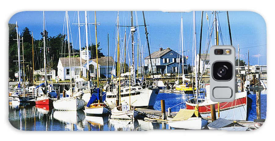 Anchor Galaxy S8 Case featuring the photograph Port Townsend Harbor by Peter French - Printscapes