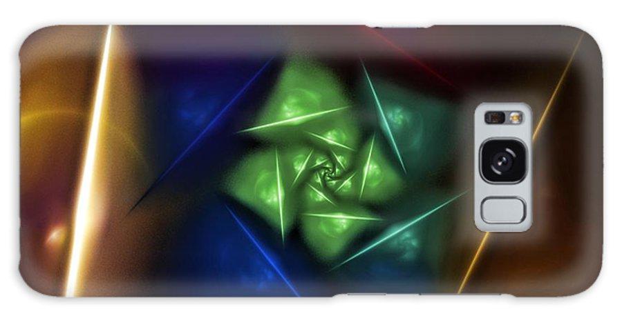 Digital Painting Galaxy S8 Case featuring the digital art Portal 2 by David Lane