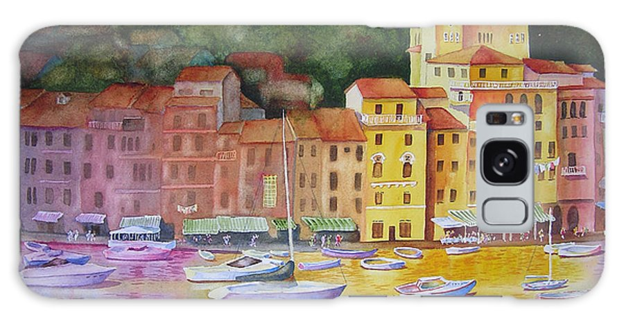 Italy Galaxy S8 Case featuring the painting Portofino Afternoon by Karen Stark
