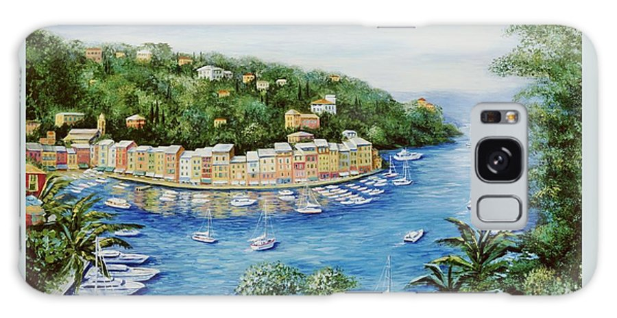 European Galaxy S8 Case featuring the painting Portofino Majestic Panoramic View by Marilyn Dunlap