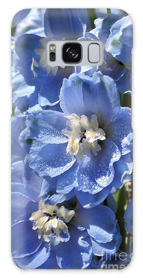Flower Galaxy S8 Case featuring the photograph Portrait Blue Delphinium 114 by Terri Winkler