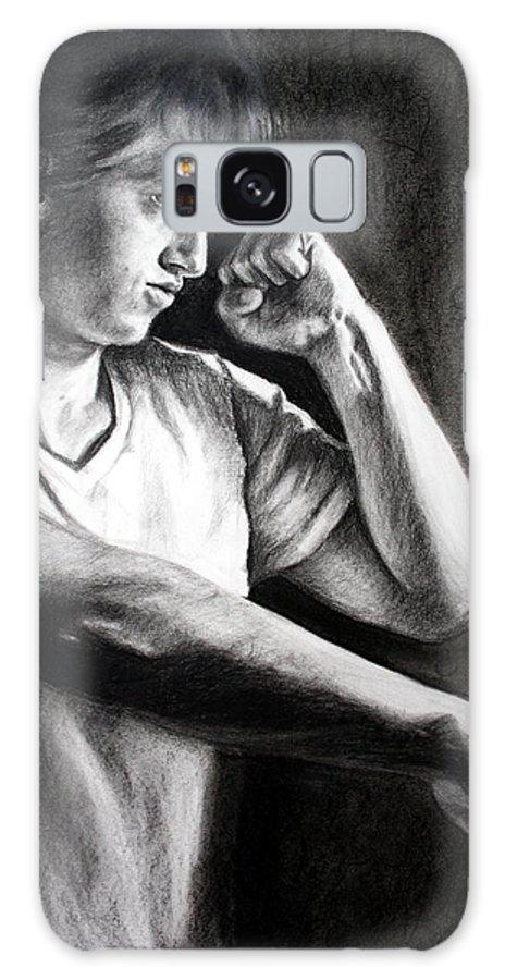 Portrait Galaxy S8 Case featuring the drawing Portrait by Maryn Crawford