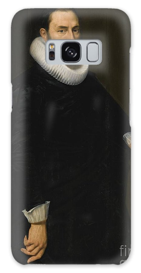 Cornelis Van Der Voort Galaxy S8 Case featuring the painting Portrait Of A Bearded Gentleman by Celestial Images