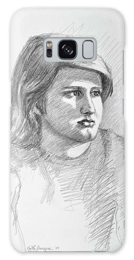 Realism Galaxy S8 Case featuring the drawing Portrait Of A Boy by Keith Burgess