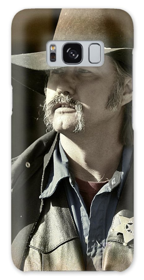 Portrait Galaxy Case featuring the photograph Portrait Of A Bygone Time Sheriff by Christine Till