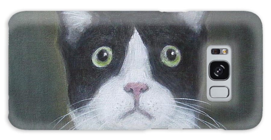 Portrait Of A Cat Galaxy S8 Case featuring the painting Portrait Of A Cat by Kazumi Whitemoon