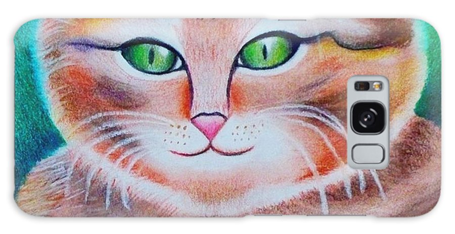Nature Galaxy S8 Case featuring the drawing Portrait Of A Kitten by Monica Vega