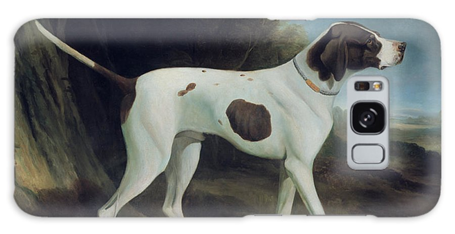 Portrait Of A Liver And White Pointer (oil On Canvas) By George Garrard (1760-1826) Galaxy S8 Case featuring the painting Portrait Of A Liver And White Pointer by George Garrard
