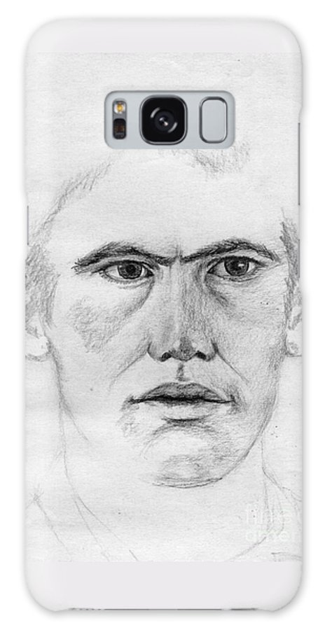 Portrait Galaxy S8 Case featuring the drawing Portrait Of A Man 2 by Annemeet Hasidi- van der Leij