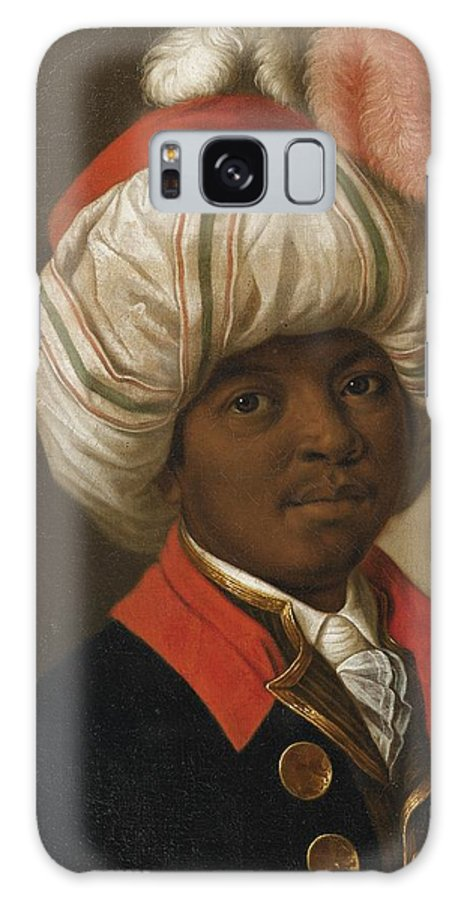 19th Century French School; Portrait Of A Man Wearing A Turban Galaxy S8 Case featuring the painting Portrait Of A Man Wearing A Turban by Eastern Accents