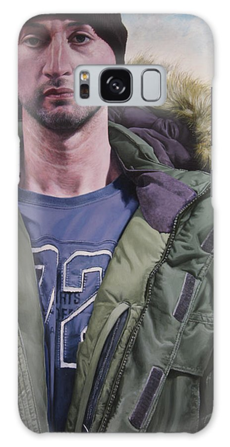 Wales Galaxy S8 Case featuring the painting Portrait Of A Mountain Walker. by Harry Robertson