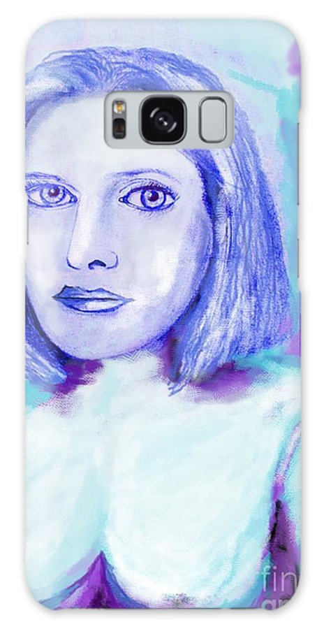Woman Galaxy S8 Case featuring the drawing Portrait Of A Woman by Eric Schiabor