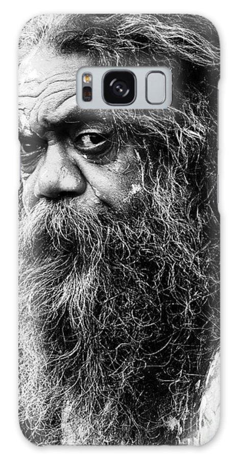 Aborigine Aboriginal Australian Galaxy Case featuring the photograph Portrait Of An Australian Aborigine by Sheila Smart Fine Art Photography