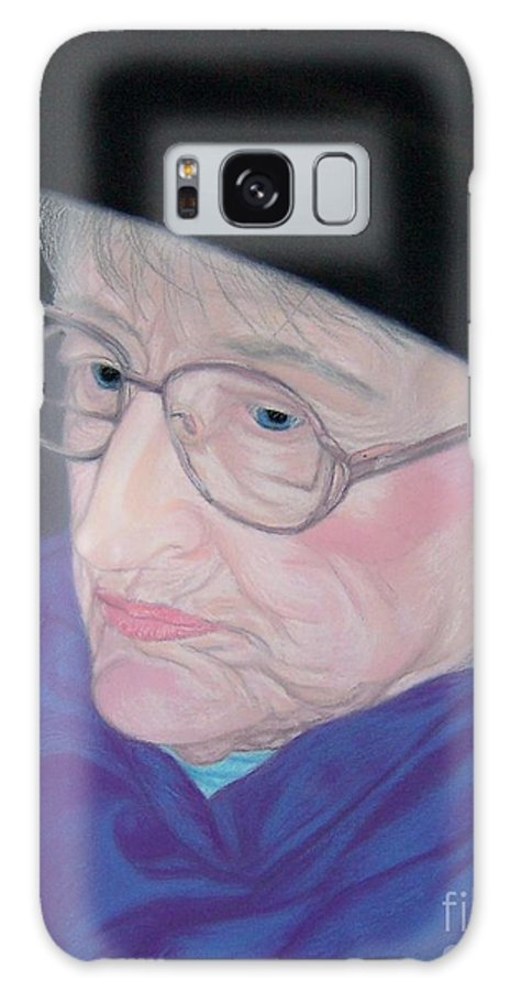 Grandma Galaxy S8 Case featuring the pastel Portrait Of Elizabeth by Emily Young