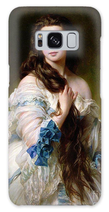 Portrait Galaxy S8 Case featuring the painting Portrait Of Madame Rimsky Korsakov by Franz Xaver Winterhalter
