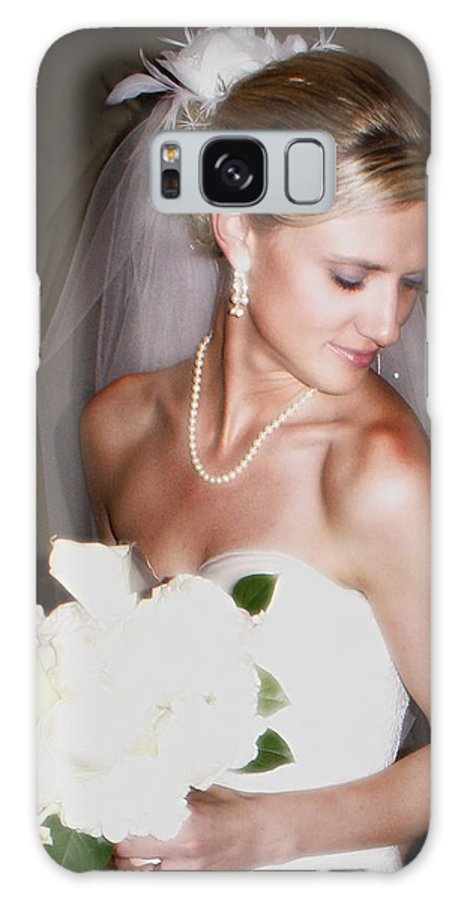Bride Galaxy S8 Case featuring the photograph Portraitt Of The Bride by Heather Coen