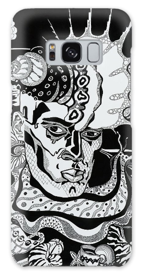 Surreal Galaxy S8 Case featuring the drawing Poseidon by Yelena Tylkina
