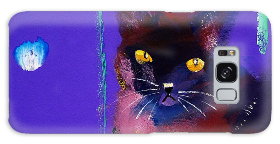 Cat Galaxy S8 Case featuring the painting Posh Tom Cat by Charles Stuart