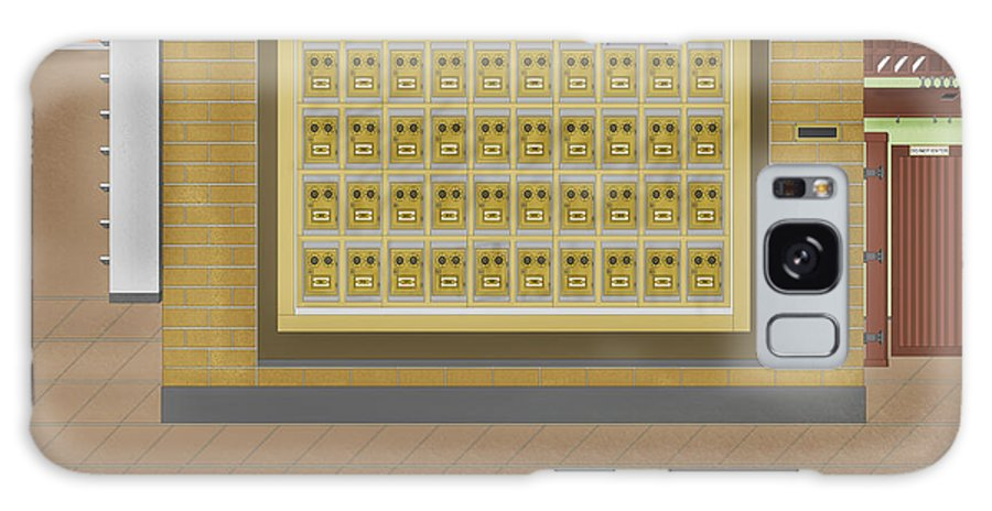 Post Office Boxes Galaxy Case featuring the painting Post Office And Store At Ralston by Anne Norskog