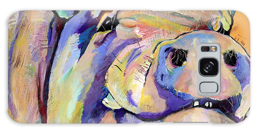Pig Prints Galaxy S8 Case featuring the painting Potbelly by Pat Saunders-White