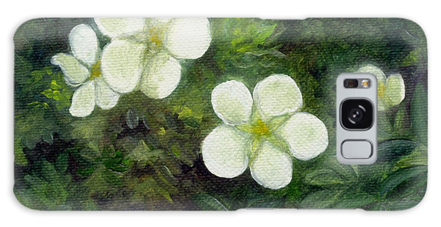 Flowers Galaxy S8 Case featuring the painting Potentilla by FT McKinstry