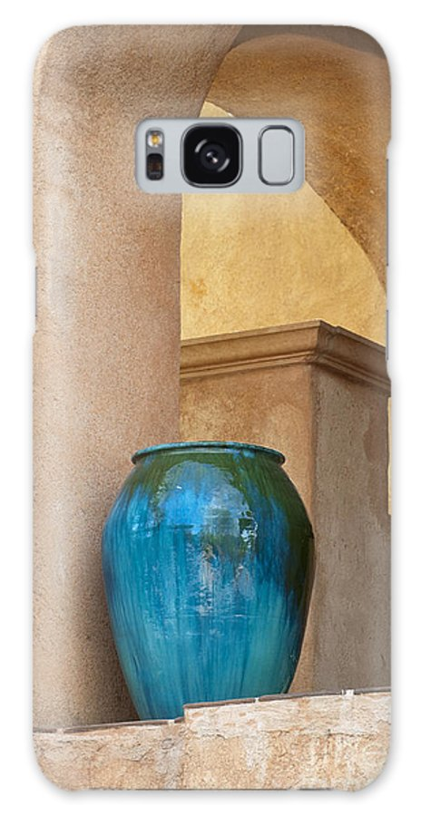 Southwest Galaxy S8 Case featuring the photograph Pottery And Archways by Sandra Bronstein
