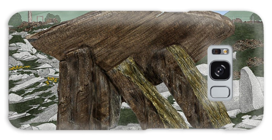 Landscape Galaxy S8 Case featuring the painting Poulnabrone Dolmen County Clare Ireland by Anne Norskog