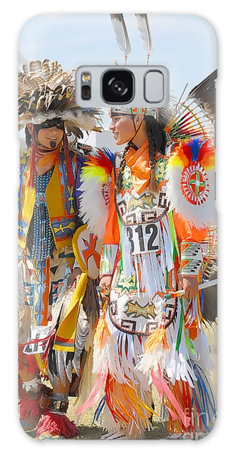 Indian Galaxy S8 Case featuring the photograph Pow Wow Contestants - Grand Prairie Tx by Dyle  Warren