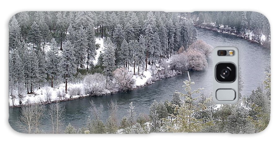 Nature Galaxy S8 Case featuring the photograph Powdered Spokane River by Ben Upham III