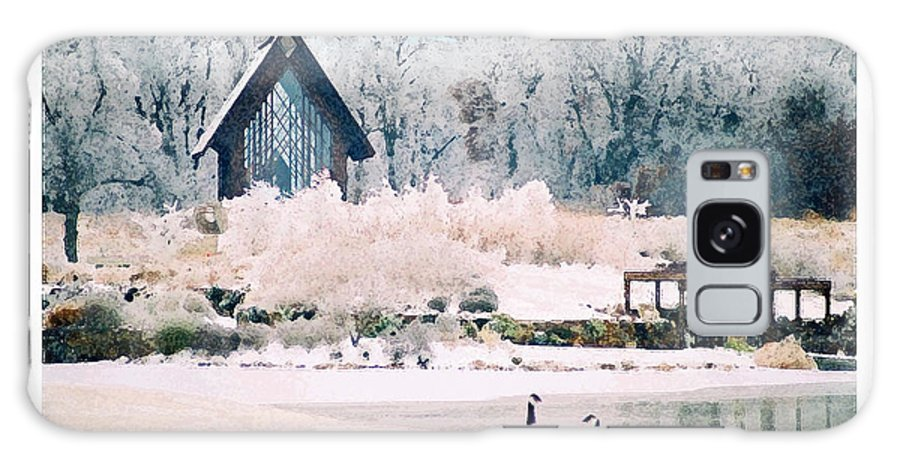Landscape Galaxy Case featuring the photograph Powell Gardens Chapel by Steve Karol