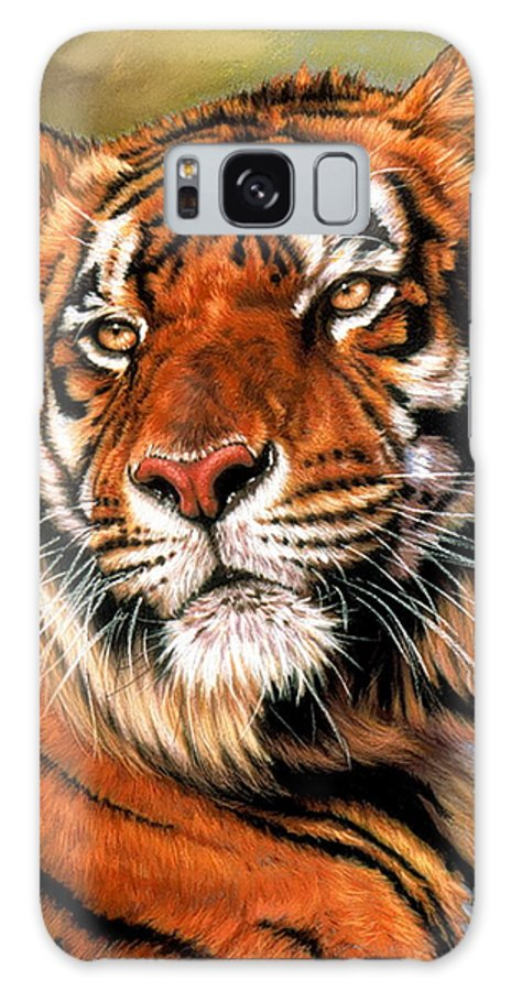 Tiger Galaxy S8 Case featuring the pastel Power And Grace by Barbara Keith