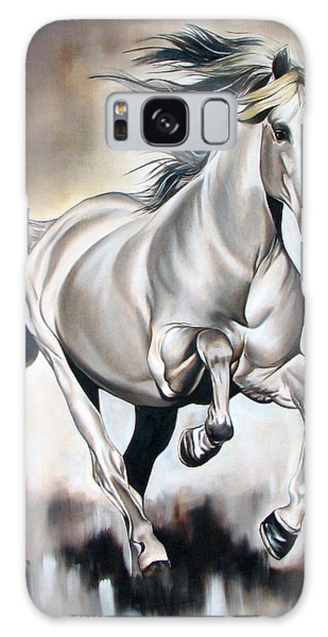 Horse Galaxy Case featuring the painting Power by Ilse Kleyn
