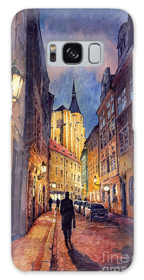 Architecture Galaxy S8 Case featuring the painting Prague Husova Street by Yuriy Shevchuk