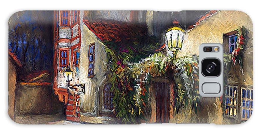 Prague Galaxy S8 Case featuring the painting Prague Novy Svet Kapucinska Str by Yuriy Shevchuk