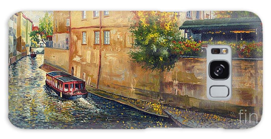 Oil.prague Galaxy S8 Case featuring the painting Prague Venice Chertovka 2 by Yuriy Shevchuk