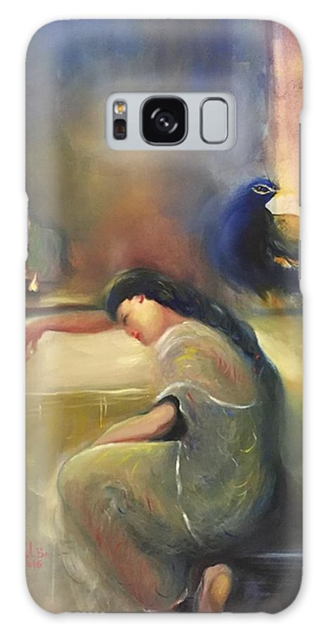 Woman. Galaxy S8 Case featuring the painting Pray by Utpal Biswas