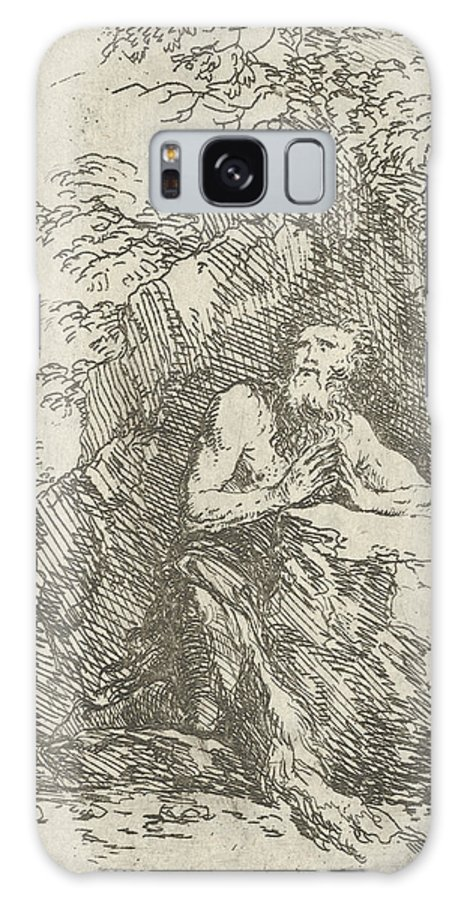 17th Century Art Galaxy S8 Case featuring the relief Praying Male Penitent In The Wilderness by Salvator Rosa