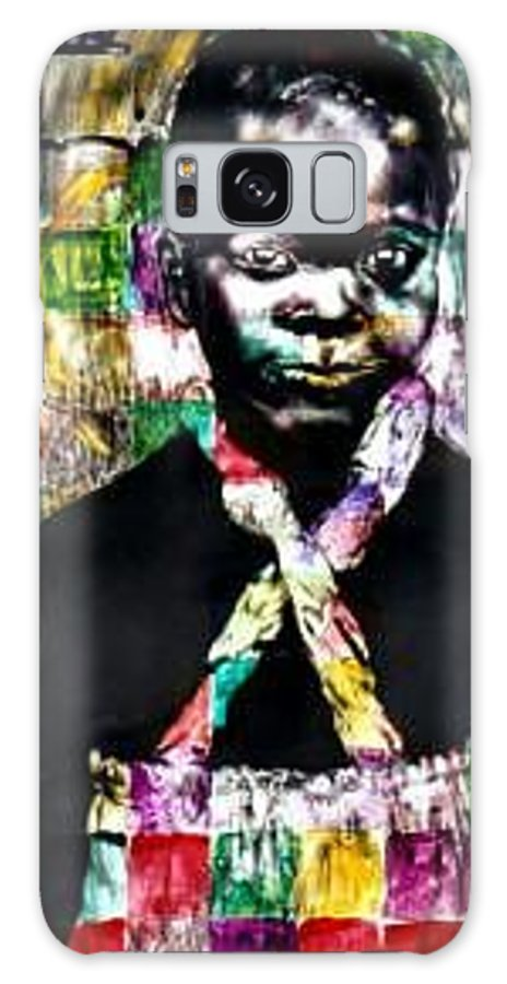 Portrait Galaxy Case featuring the mixed media Precious by Chester Elmore