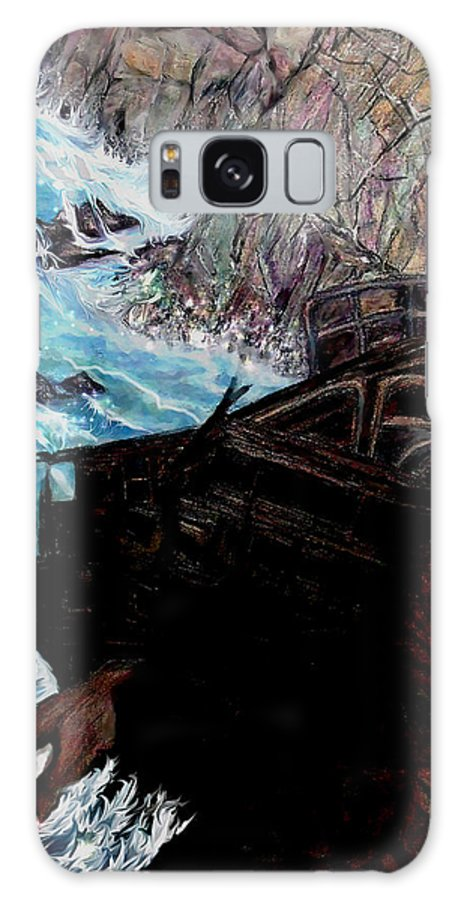 Shipwrecks Galaxy S8 Case featuring the painting Precious Gem Mountain by Brenda L Spencer