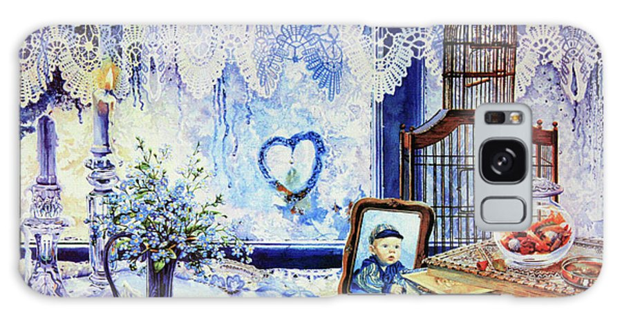 Lace Curtain Galaxy S8 Case featuring the painting Precious Memories by Hanne Lore Koehler