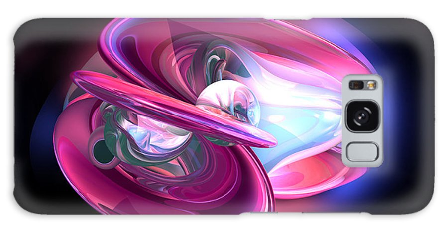 3d Galaxy S8 Case featuring the digital art Precious Pearl Abstract by Alexander Butler