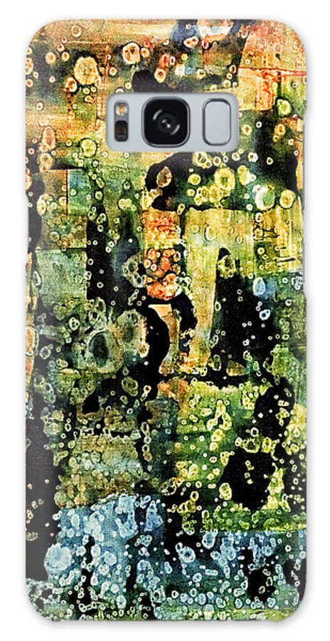 Abstract Galaxy S8 Case featuring the mixed media Precipitation Of Time by Dan Sisken