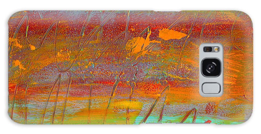 Abstract Galaxy Case featuring the painting Prelude To A Sigh by Wayne Potrafka