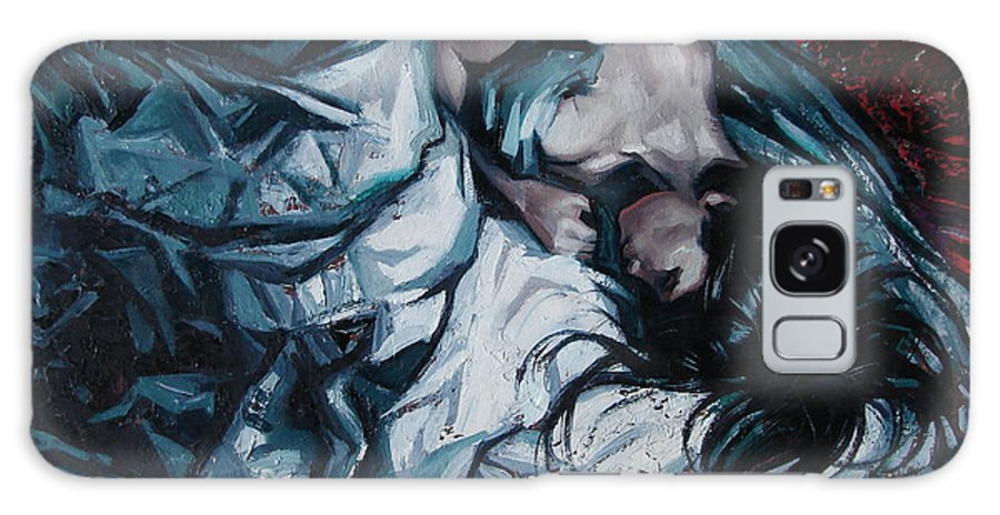 Oil Galaxy Case featuring the painting Presentiment of insomnia by Sergey Ignatenko